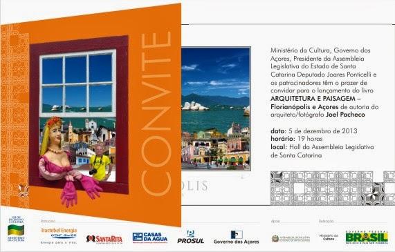 Lançamento Livro Arquitetura e paisagem - Florianópolis e Açores