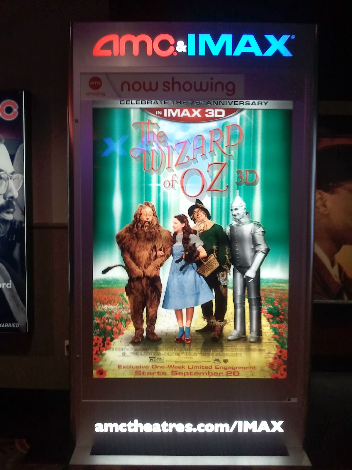 The wizard of oz 3d poster the wizard of oz imax 3d