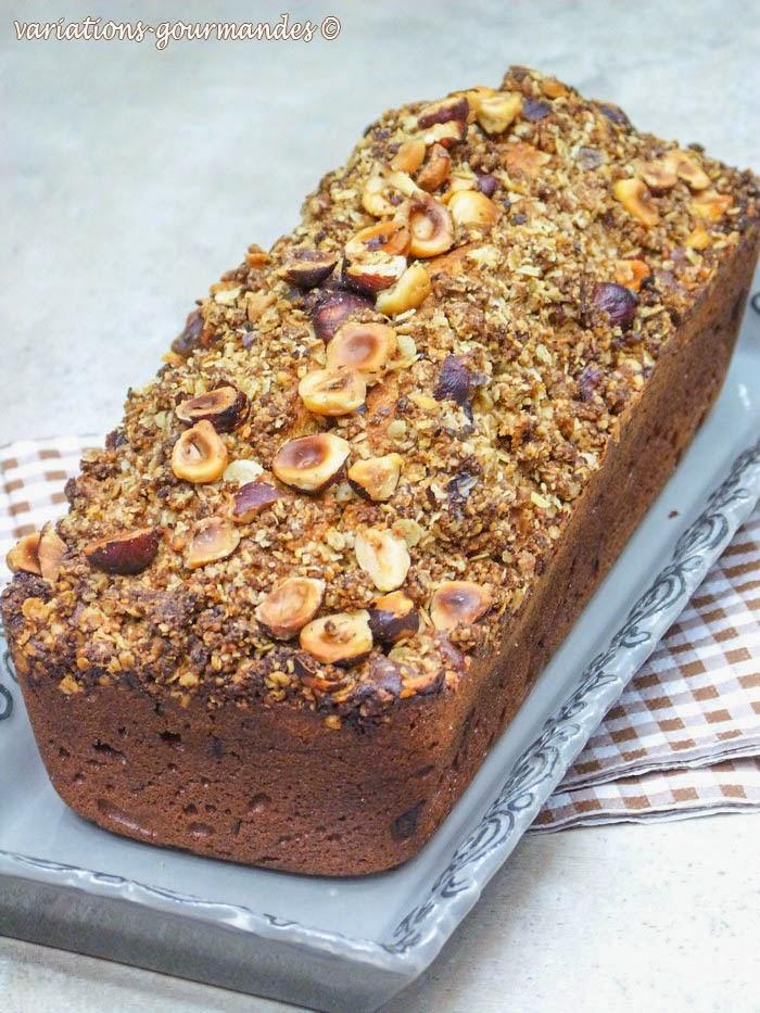 cake, CHOCOLAT, goûter, kamut, mascarpone, noisettes, petit-déjeuner, purée de noisettes,