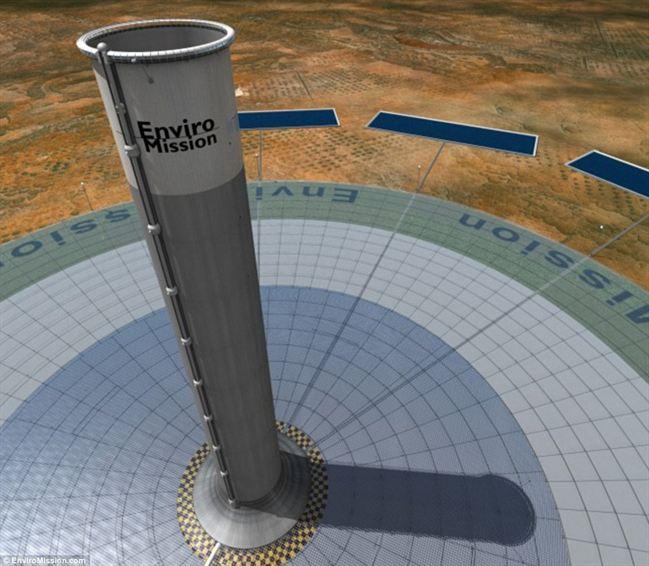 Menara tenaga solar di Arizona