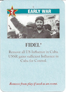 Fidel Castro card from Twilight Struggle