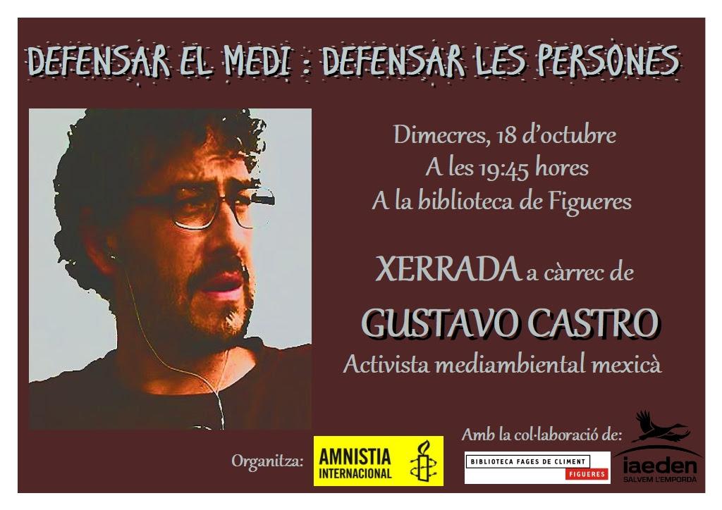 Xerrada - col·loqui de Gustavo Castro