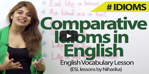 comparative idioms exercises
