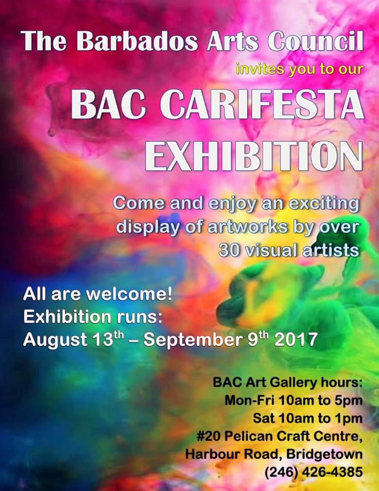 BARBADOS ARTS COUNCIL CARIFESTA EXHIBIT, 2017.