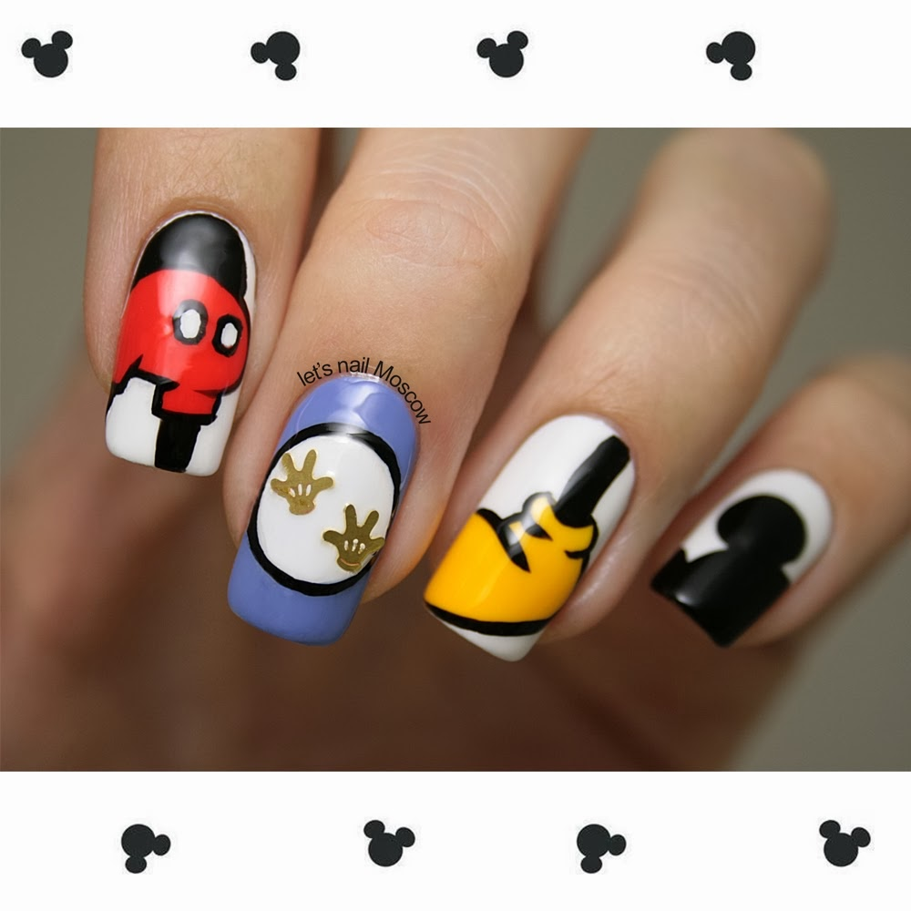 Easy Mickey Mouse Nail Designs
