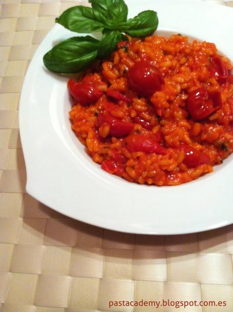 Risotto con tomate
