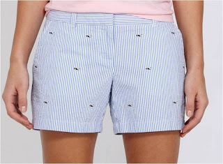 Whale embroidered seersucker shorts by vineyard vines