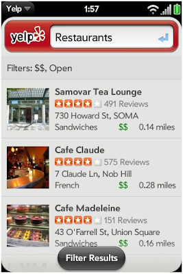 Yelp adnroid app
