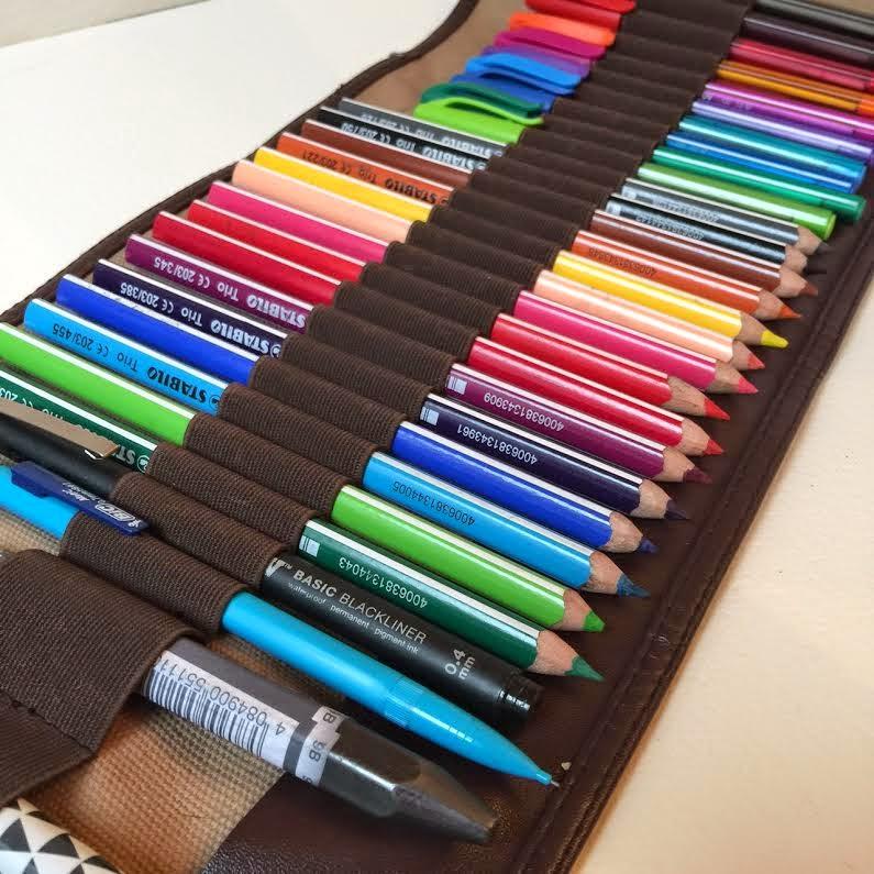 Isabelle kessedjian ma trousse derwent - Tuto trousse crayons de couleur ...