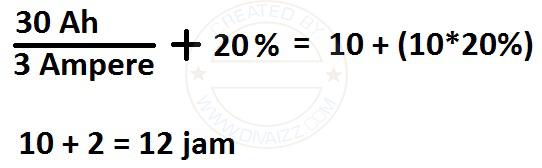 perhitungan charger aki - www.divaizz