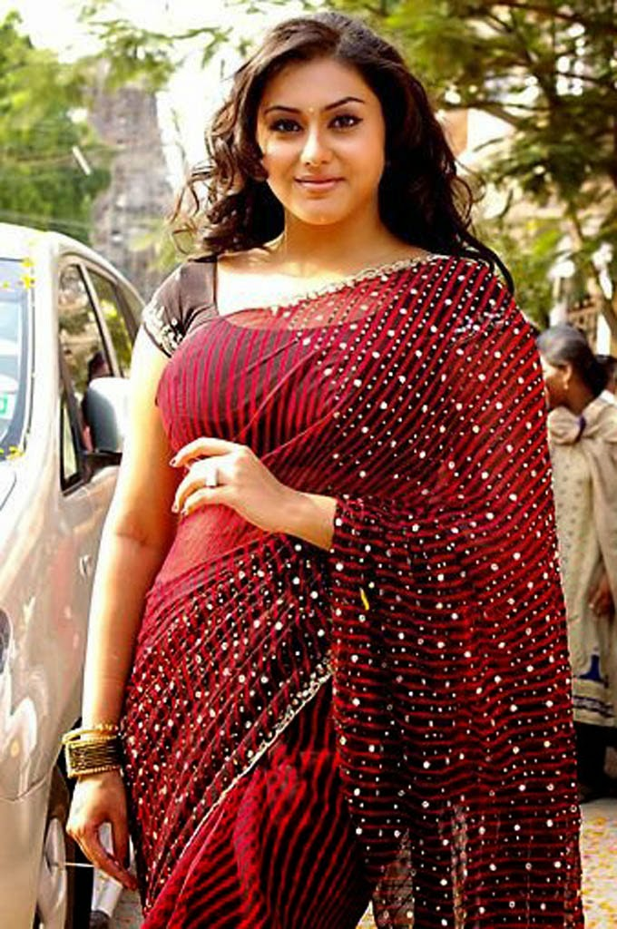 Actress Namitha Sexy Spicy Saree Photos