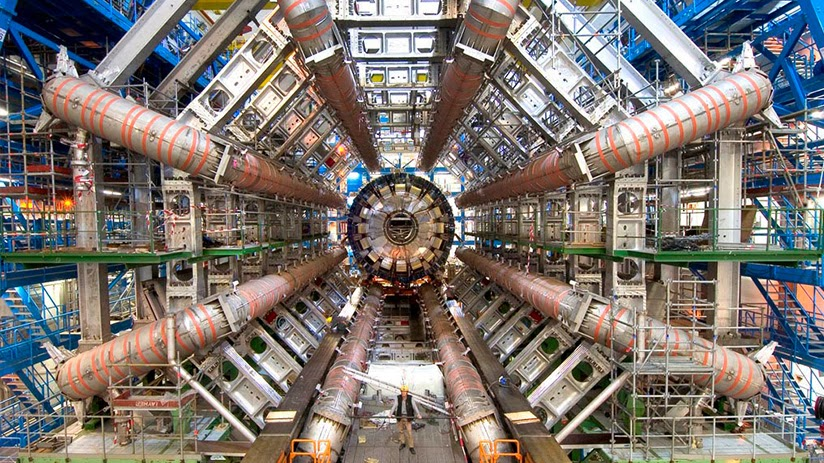 The Large Hadron Collider Atlas Detector in Particle Fever