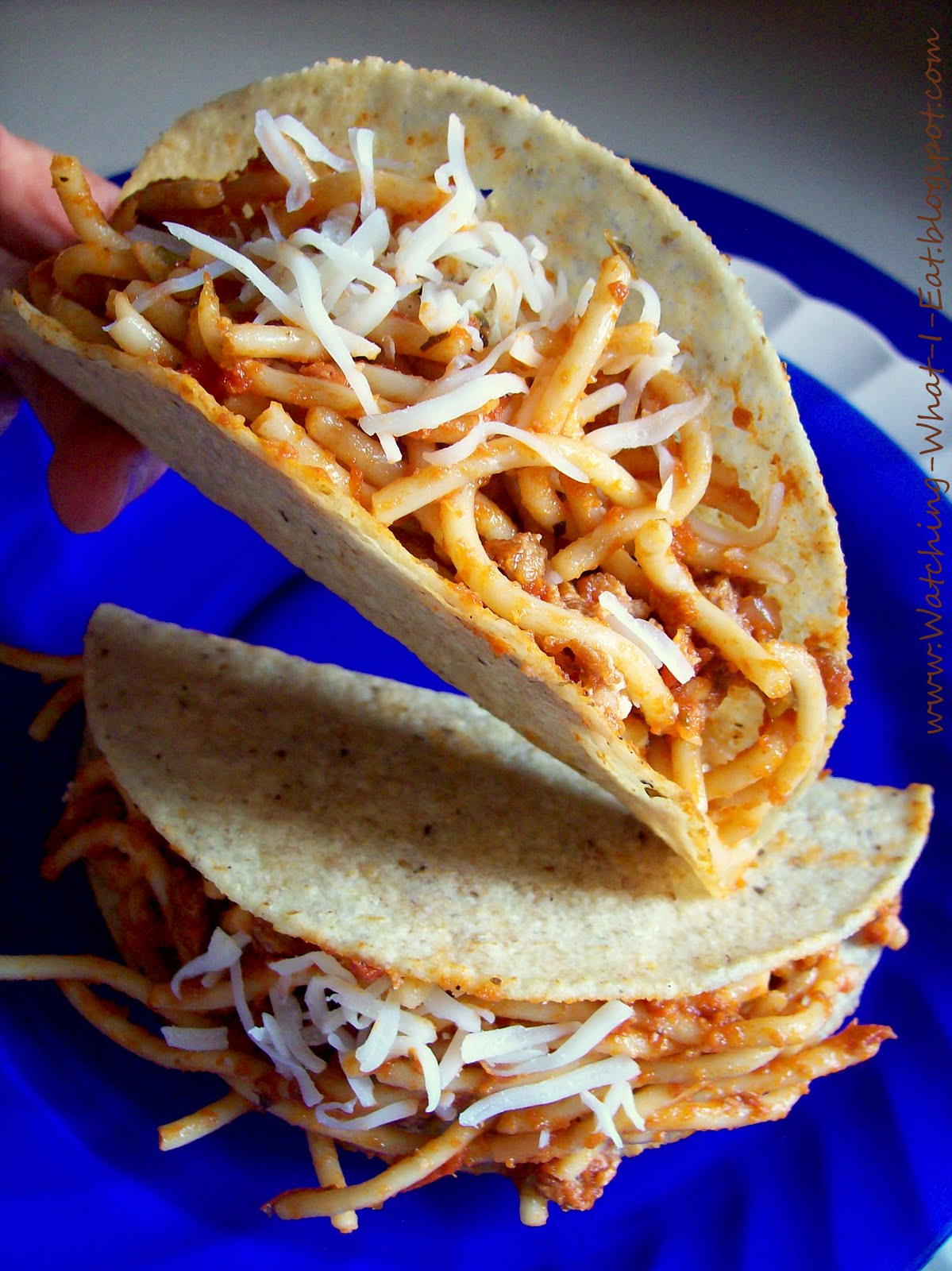 Watching What I Eat: Spaghetti Tacos & Spaghetti Nachos ~ iKidding ...