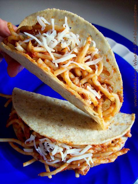Watching What I Eat: Spaghetti Tacos & Spaghetti Nachos ~ iKidding ...