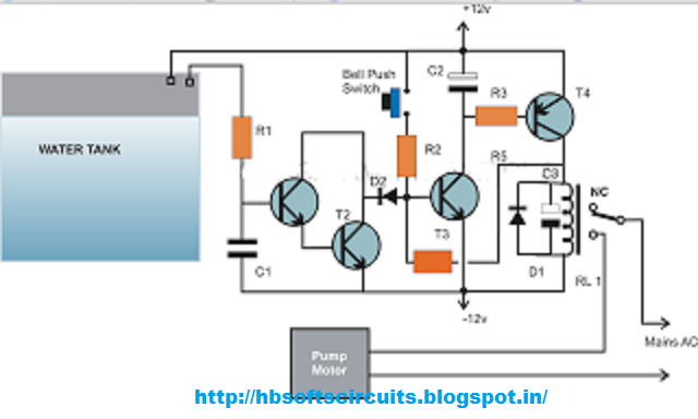 Cheap Semi Automatic Tank Water Over Flow Controller Circuit