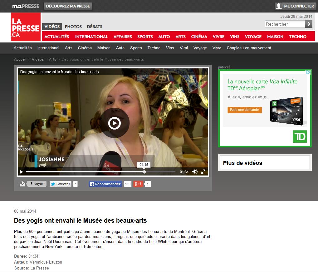 On voit ma face dans La Presse @LaPresse