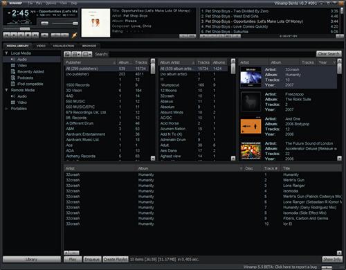 Winamp pro 5.64 SS screenshot