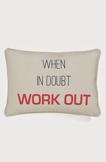 When In Doubt Workout Pillow, Motivation, exercise