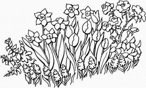 Desenhos para patchwork e pintura de jardins e flores