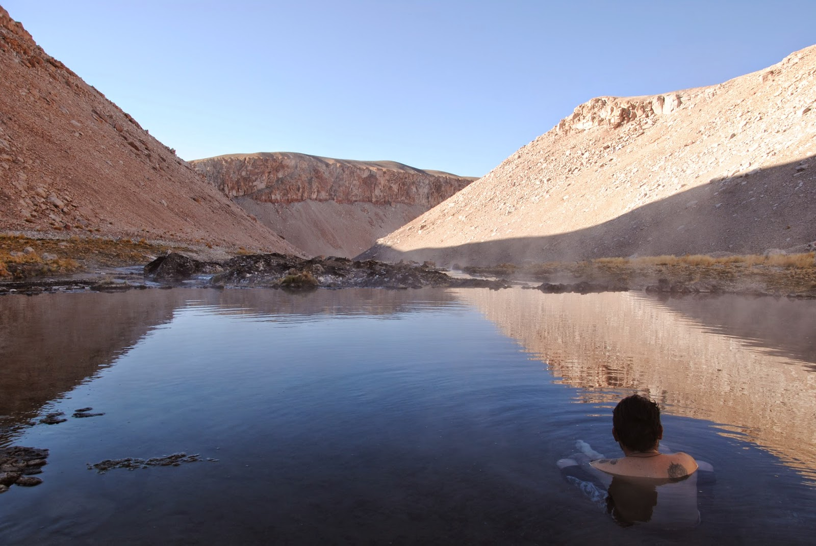 Détente aux Thermes de Juncal - Andes chiliennes
