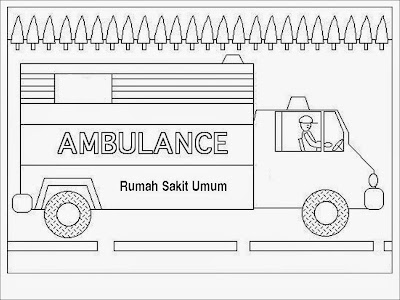 ambulance truck coloring pages