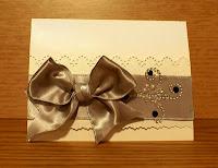 Big bow greeting card