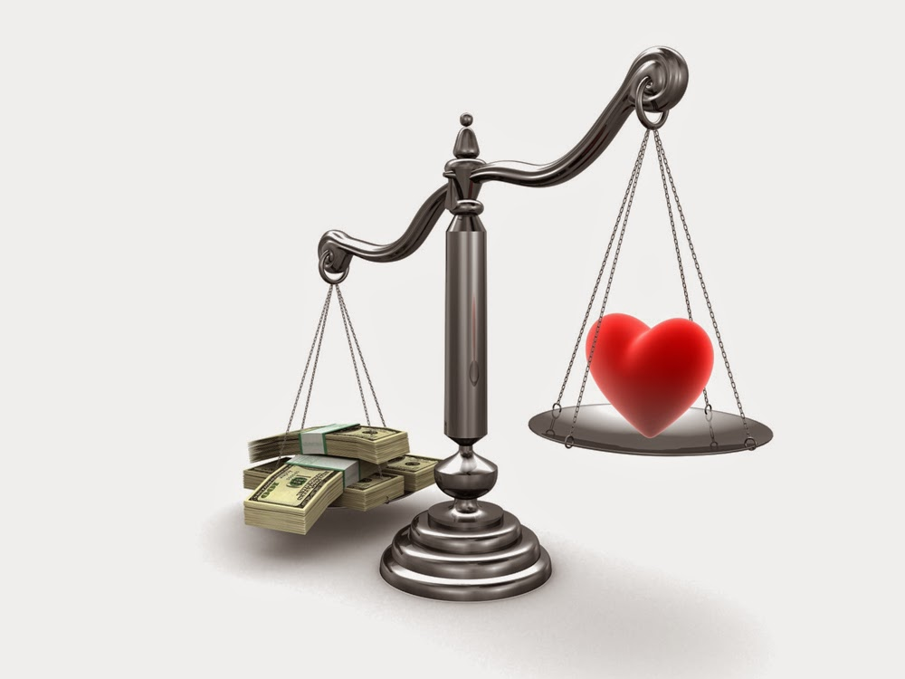 money vs love