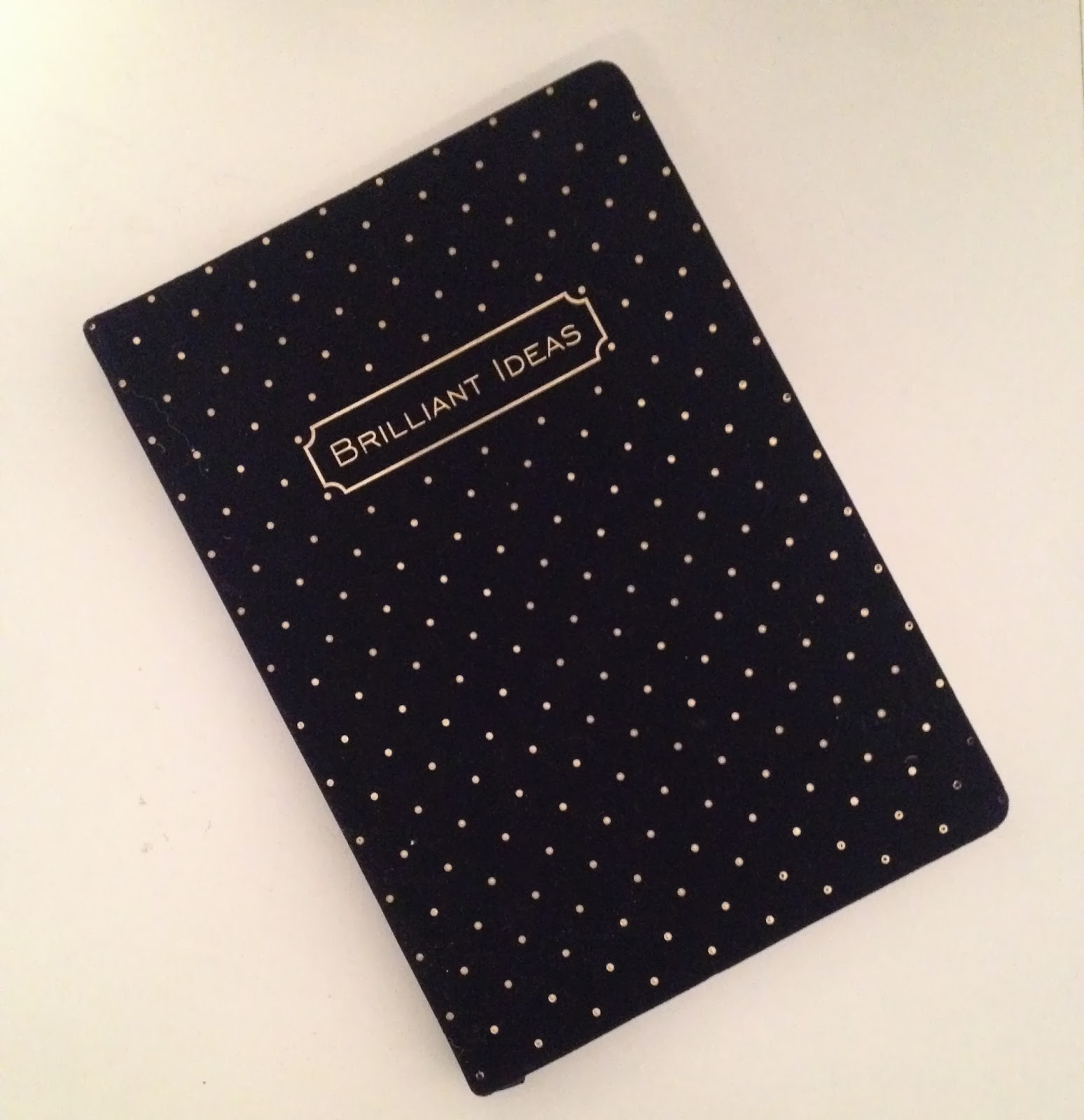 brilliant ideas velvet notebook
