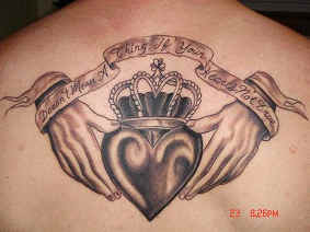 Irish Claddagh Tattoo Irish Loyalty Symbol Tattoo
