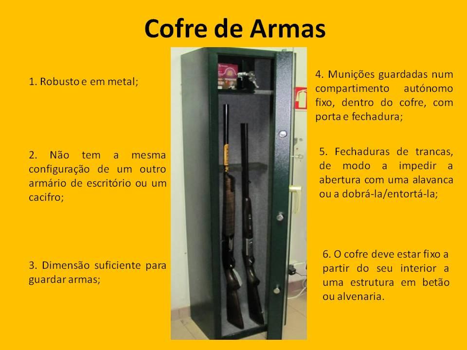 Licen a de uso e porte de arma cofre ou arm rio de seguran a for Uso e porte de arma