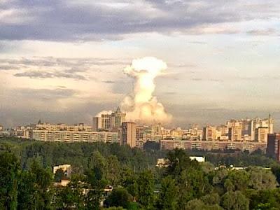 Ядерный взрыв - необычное атмосферное явление. Петербург