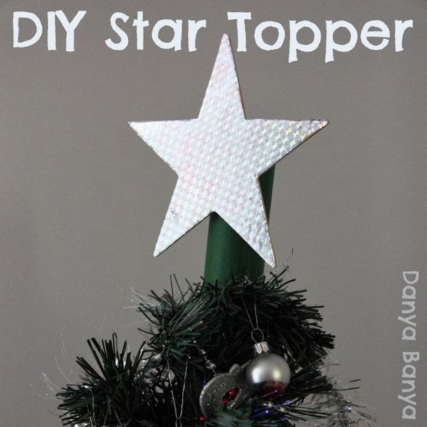 DIY star Christmas tree topper