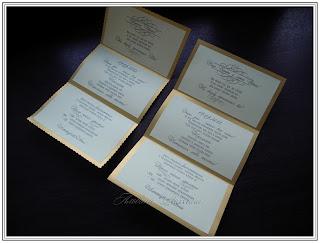 Классические приглашения на свадьбу.