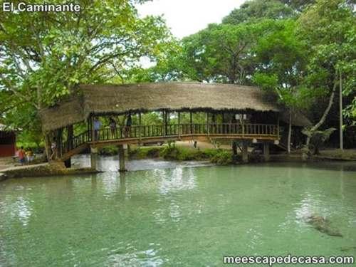 Puente de madera sobre el río Tioyacu (Rioja, Perú) 1