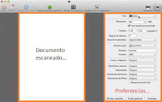 escanear un documento en mac