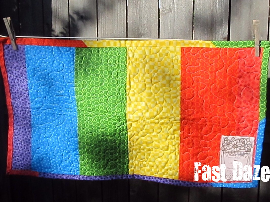 Fast Daze: Teacher Appreciation {Quilted Wall-Hanging}