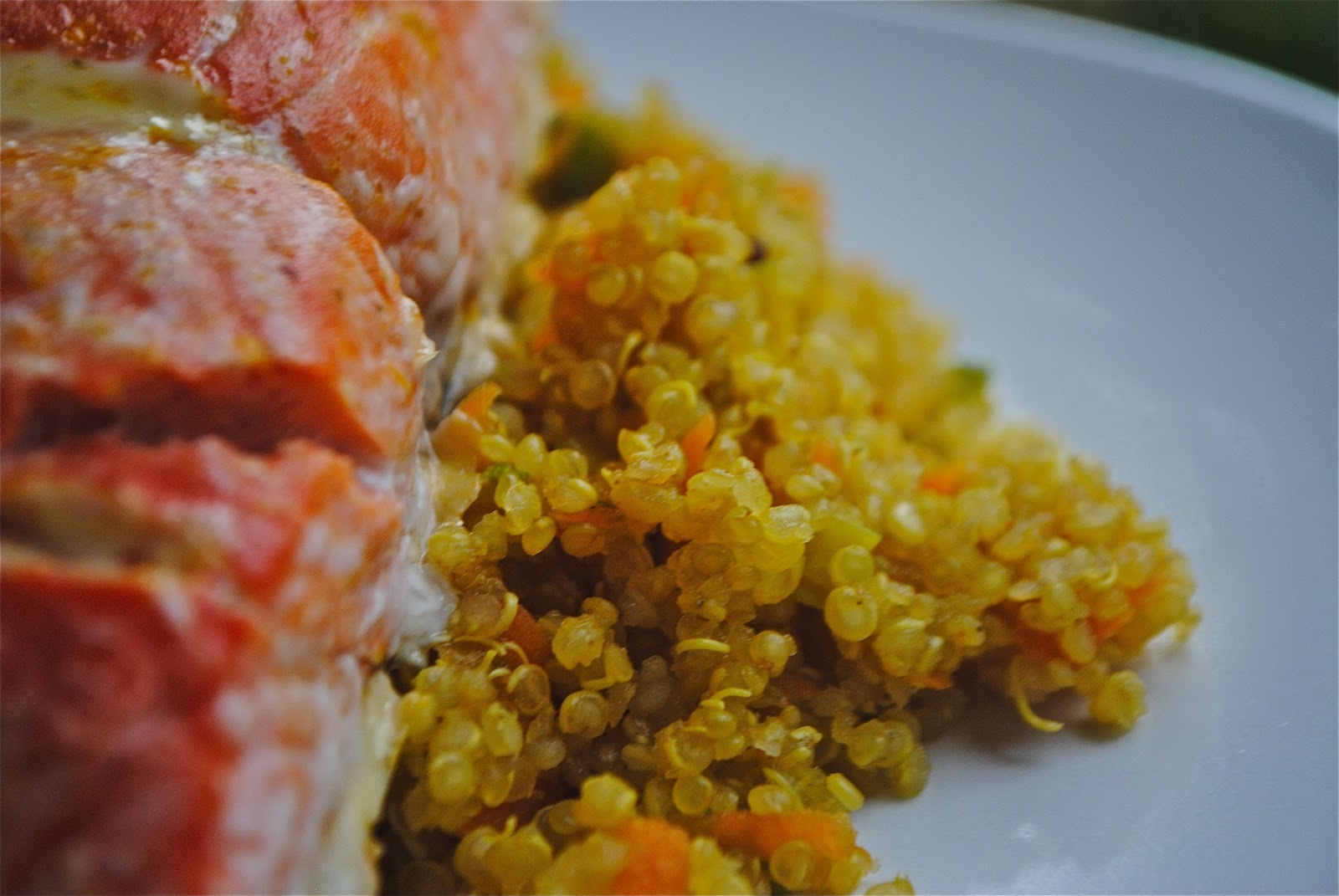 Recipe Doodle: HONEY ORANGE GLAZED SALMON WITH QUINOA and ASPARAGUS ...