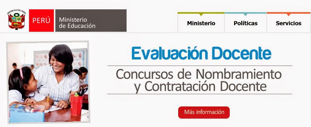 Noticias nombramiento docente 2015 minedu for Plazas disponibles concurso docente 2016
