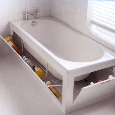 The surroundings of a built in tub usually give you enough space to