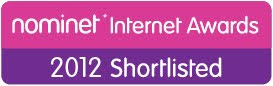 Shortlisted for Nominet Internet Awards 2012