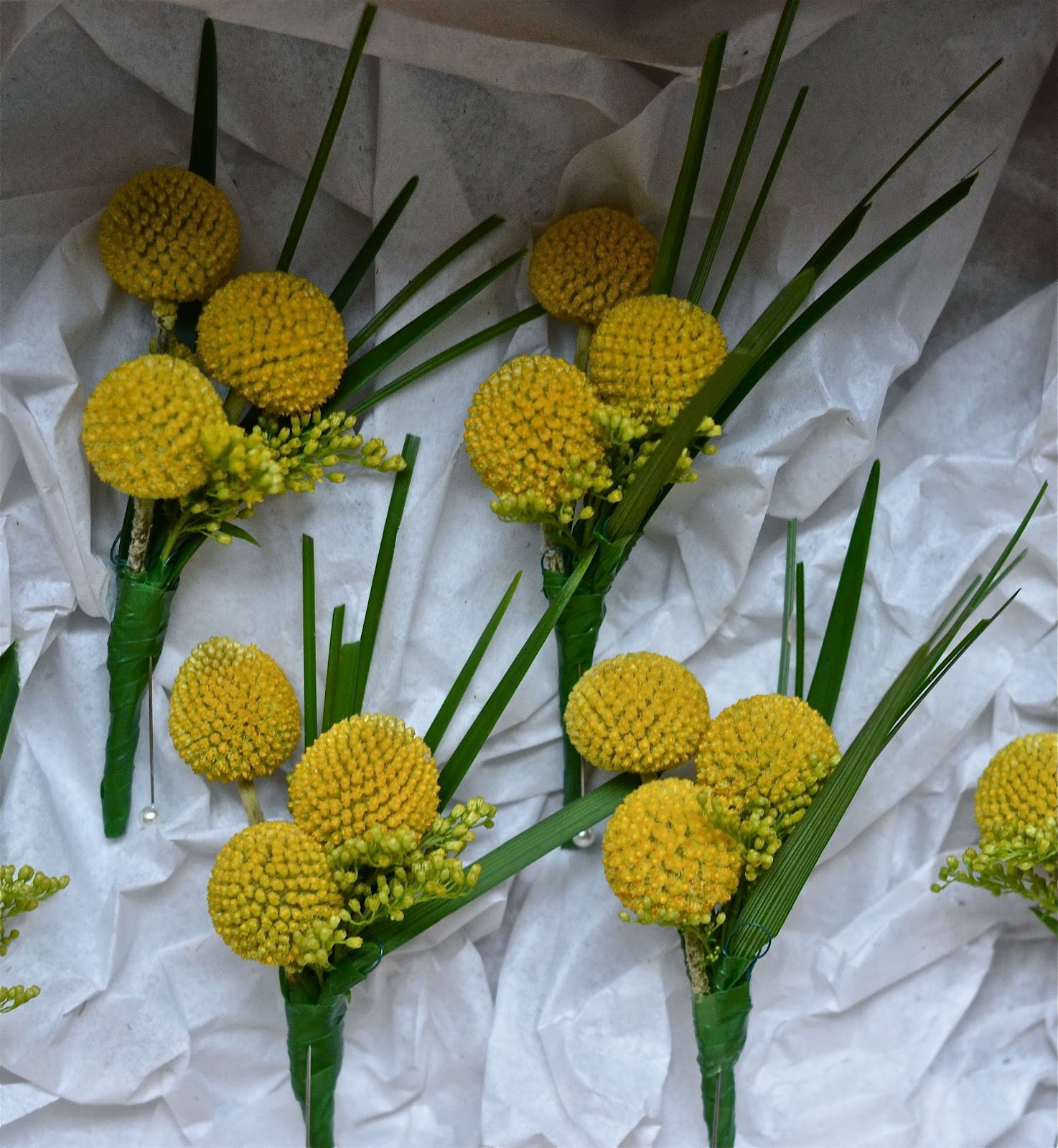 Wedding Bouquets And Buttonholes : Wedding flowers emma s yellow and blue