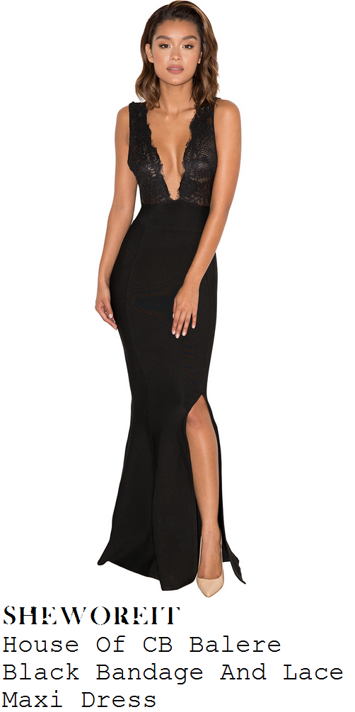 vicky-pattison-black-lace-plunge-front-sleeveless-bandage-maxi-dress-emas