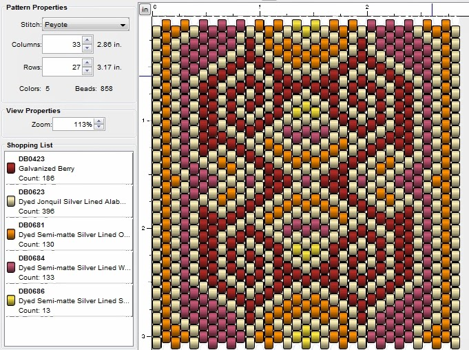 free peyote stitch pattern 19
