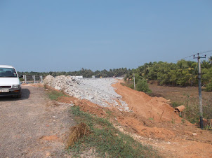 "Saturday(5-3-2016) :- Construction work of ""HIGHWAY NH66"" still in progress near Mabukala bridge."
