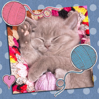 Picture of a sleepy little kitten from This Little Kitten, an illustrated children's ebook