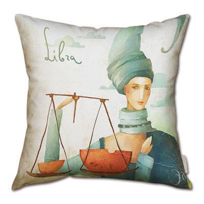 signo del zodiaco libra en almohada