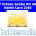 UP Vidhan Sabha RO ARO Admit Card 2016 Exam Date