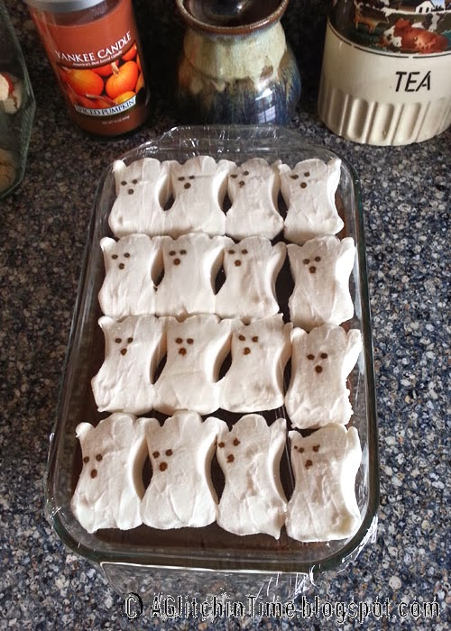 ghostly smores brownies