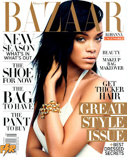 Rihanna on the cover of Harper's Bazaar August 2012 Issue