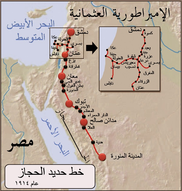Hejaz Railway Line From Damascus to Medina